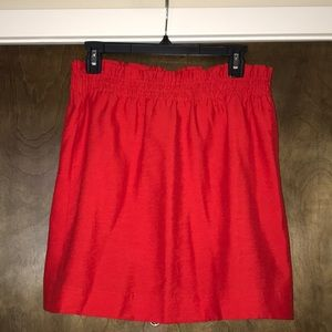 JCREW Red Mini skirt size 10 new J. CREW